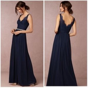 BHLDN Fleur Dress Size 0 Hitherto NAVY